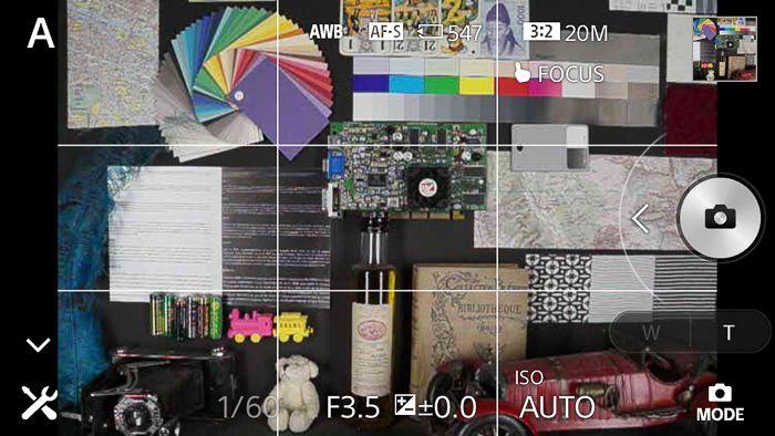 Sony QX1 menus LesNumeriques 3