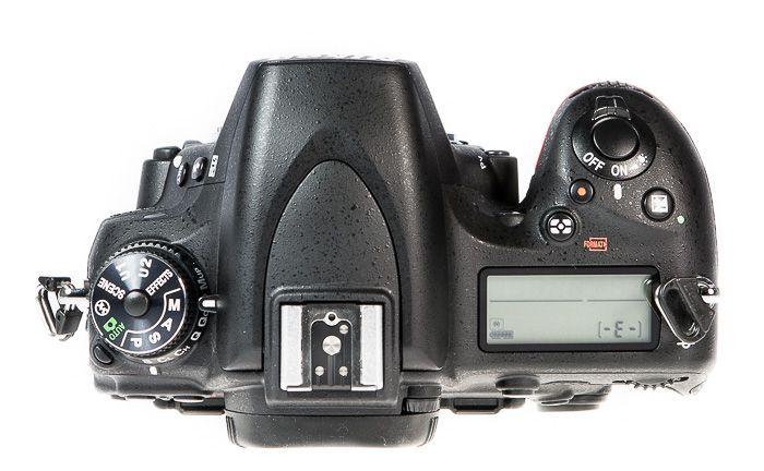 Nikon D750 vue de dessus