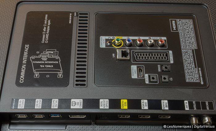 Samsung HU7200 connectique