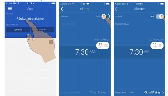 Withings aura alarme