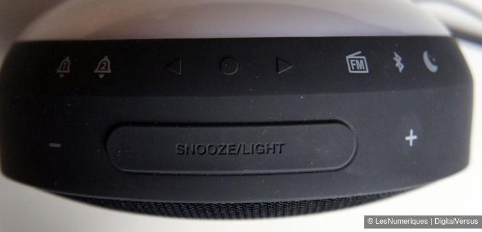 JBL Horizon boutons Snooze et Light