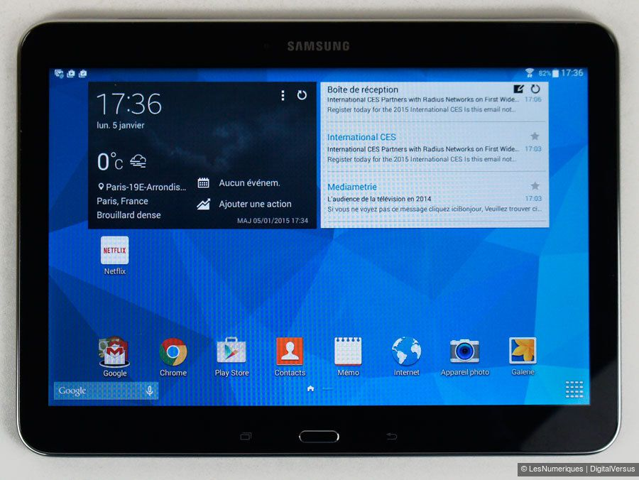 samsung galaxy tab 4 10 1 test complet tablette. Black Bedroom Furniture Sets. Home Design Ideas