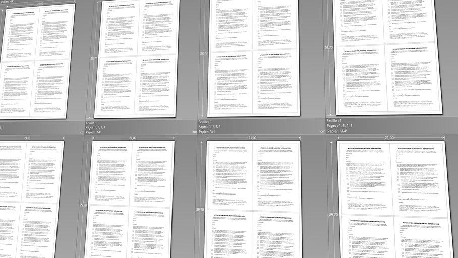 Attestation de déplacement dérogatoire : optimiser l'utilisation du papier lors de l'impression