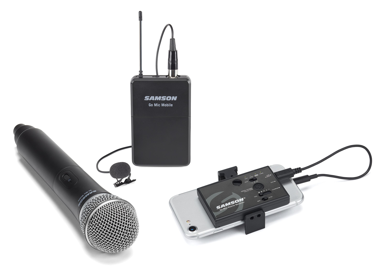 samson go mic mobile un micro sans fil pour appareil mobile. Black Bedroom Furniture Sets. Home Design Ideas