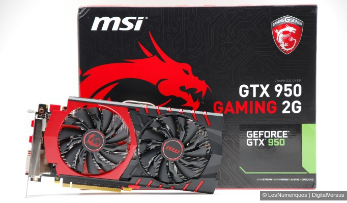MSI GeForce GTX 950 Gaming 2G box