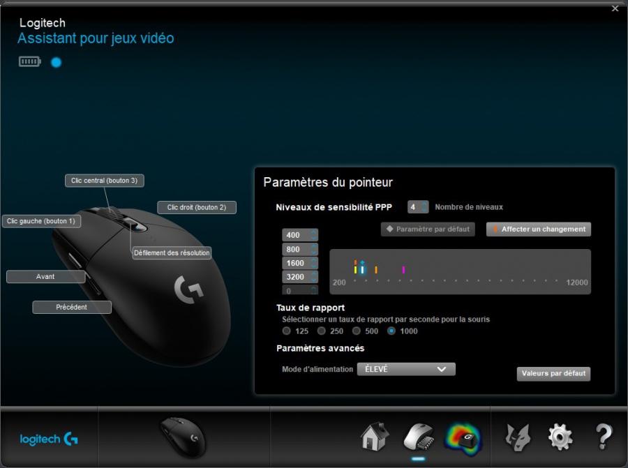 Assistant pour jeux vidéo Logitech - G305 - Paramètres.jpg